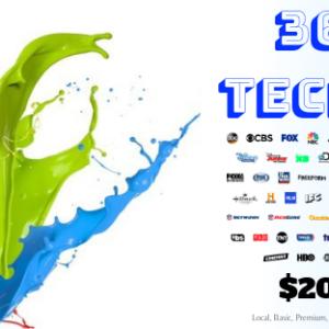 360 Tech TV IPTV give you local, basic, premium, sports, ppv, xxx